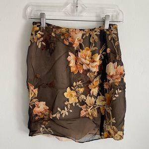 Floral women's pencil skirt